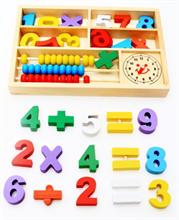 Đồ chơi gỗ giáo dục dạng chữ số và bảng tính AWS0016