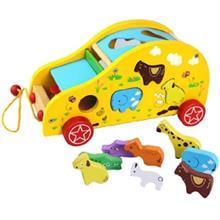 Đồ chơi gỗ cho bé dạng xe kéo và hộp thả AYX0075
