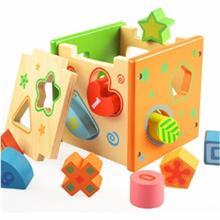 Đồ chơi gỗ giáo dục dạng khối hộp AYX0082