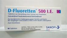 Thuốc cứng xương Vitamin D-Fluoretten 500 I.E.