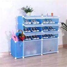 Tủ nhựa lắp ghép đa năng thông minh để giày dép 9 ngăn - TN0064