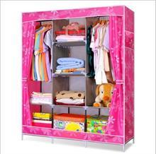Tủ vải cao cấp 3 buồng 8 ngăn kéo rèm