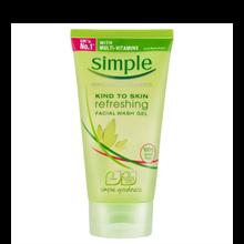 Sữa Rửa Mặt Dạng Gel Simple Kind To Skin Refreshing Facial Wash Gel