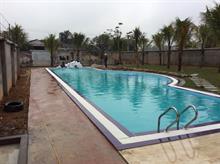 Xây dựng bể bơi và khuôn viên vườn