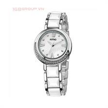 Đồng hồ thời trang chính hãng hiệu KIMIO - K496MS(Dây trắng, mặt trắng)