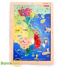 Đồ Chơi Gỗ Klap Bản Đồ Lãnh Thổ Và Biển Đảo Việt Nam Khổ A4