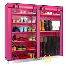 Tủ vải cao cấp 6 tầng 9 ngăn đựng giày dép và boot