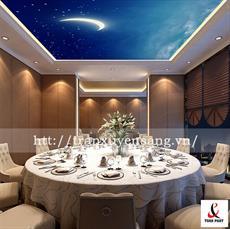 Mẫu trần nhà hàng xuyên sáng in bầu trời đêm