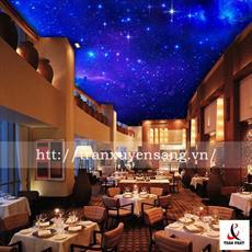 Mẫu trần nhà hàng xuyên sáng in bầu trời sao