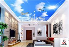 Mẫu trần phòng khách xuyên sáng in bầu trời số 11