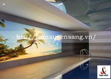 Vách xuyên sáng bể bơi trong nhà