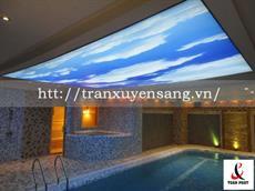 Mẫu trần xuyên sáng bể bơi in bầu trời số 2