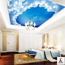 Mẫu trần phòng ngủ xuyên sáng in bầu trời số 4