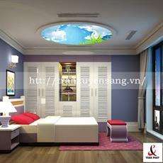 Mẫu trần phòng ngủ xuyên sáng in bầu trời số 5