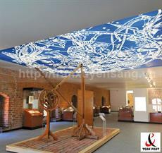 Mẫu trần xuyên sáng lắp đặt tại khu Bảo Tàng