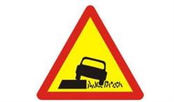 Biển báo lề đường nguy hiểm (biển báo 222b)
