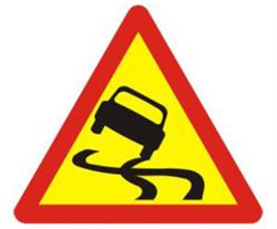 Biển báo đường trơn (biển báo 222a)