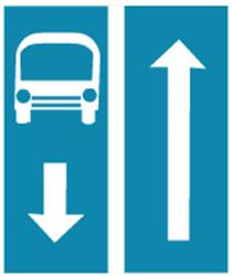 Biển báo Đường có làn đường dành cho ô tô khách (biển báo 413a)