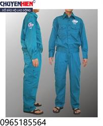 Quần áo bảo hộ màu xanh lilama