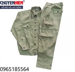 Quần áo bảo hộ vải Băng zin Hàn Quốc