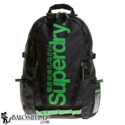 Balo Laptop Superdry Classic Tarpaulin màu đen chữ xanh