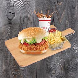 Set Burger Gà Rán | Golden Chicken Burger Set