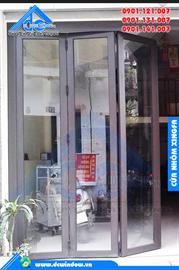 Cửa nhôm xingfa - cửa đi mở xếp