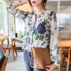 [Its] Áo sơ mi hoa ( YE-01845 Color Mix Flower Blouse )