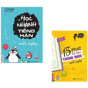 Combo - 15 Phút Tự Học Tiếng Hàn + Học Nhanh Tiếng Hàn