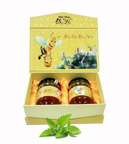 Mật ong hoa bạc hà Hà Giang 2 lọ 700ml