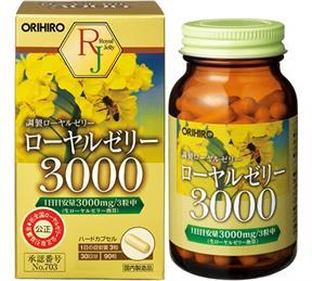 Viên Sữa ong chúa Orihiro Royal Jelly 3000mg Nhật Bản