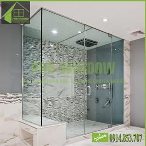 Cửa kính phòng tắm mở quay