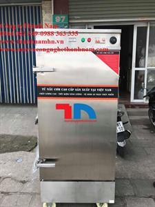 Tủ nấu cơm công nghiệp 12 khay gas điện kết hợp