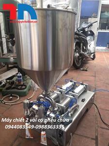 Máy chiết rót 2 vòi có bồn chứa