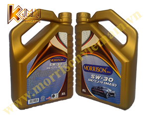 Dầu nhớt xe hơi Morrison Fully Synthetic 5W-30 SN/CJ-4 (Can 5L)