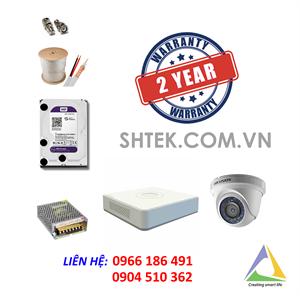 Trọn bộ 1-4 camera 2.0MP Hikvision