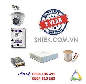 Trọn bộ 5-8 camera 1.0MP Hikvision