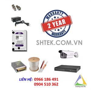 Trọn bộ bộ camera 2MP Hikvision DS-2CE16D0T-IT3 và đầu ghi DS-7204HQHI-F1/N