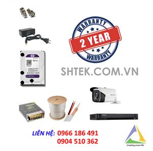 Trọn bộ bộ camera 5MP Hikvision DS-2CE16H1T-IT3 và đầu ghi DS-7204HUHI-K1