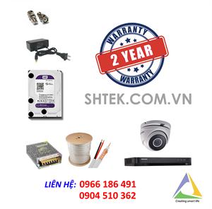 Trọn bộ bộ camera 5MP Hikvision DS-2CE56H1T-ITM và đầu ghi DS-7204HUHI-K1