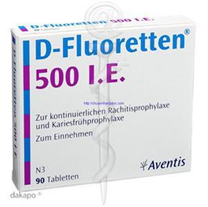 Thuốc cứng xương D-Fluoretten 500 I.E  - CX1