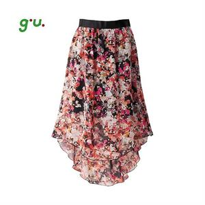 Váy Maxi Voan Gu - Uniqlo - Hoa văn xinh xắn - WD152