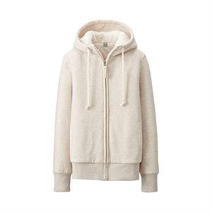 Áo Hoodie lót lông cừu Uniqlo - Natural - WJ14