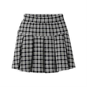 Chân váy kẻ xếp ly xinh xắn cho bé gái - XL04