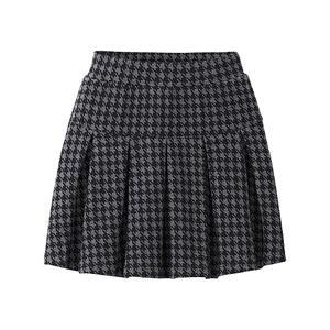 Chân váy kẻ xếp ly xinh xắn cho bé gái - XL03