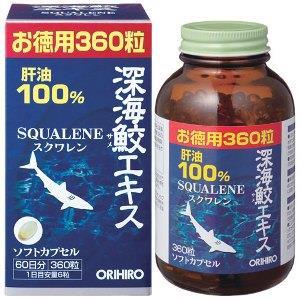 Viên Sụn Vi Cá Mập Squalene ORIHIRO 360 viên - ORI1
