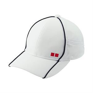 Mũ tennis Uniqlo - trắng viền tím than - MU02