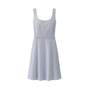 Váy kẻ hai dây Uniqlo  WD52