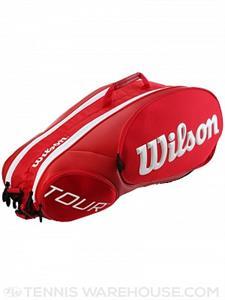 Túi vợt  tennis Wilson Tour Molded 2.0 Red 6-Pack Bag - TV01