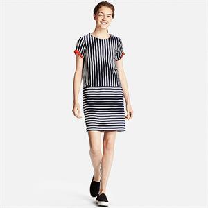 Váy kẻ  Uniqlo xinh xắn WD89